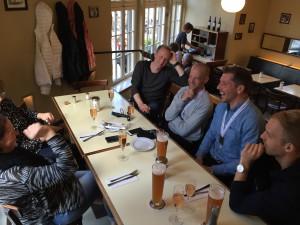 Middagen efter loppet i Hamburg 2016